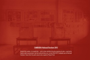 CAMBODIA: National Elections 2013