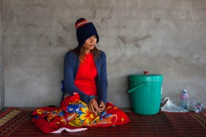 """[The police] pushed me down and I started bleeding. Later the doctors told me I had lost my baby."" Oum Srey Saut, 20, was three-months pregnant when she lost her baby during clashes with the police at Sabrina Factory on May 27, 2013."